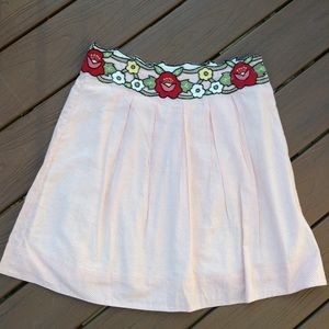 anthropologie SNAK vintage style cotton skirt M